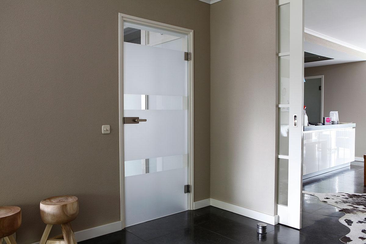 glazen deur scharnieren